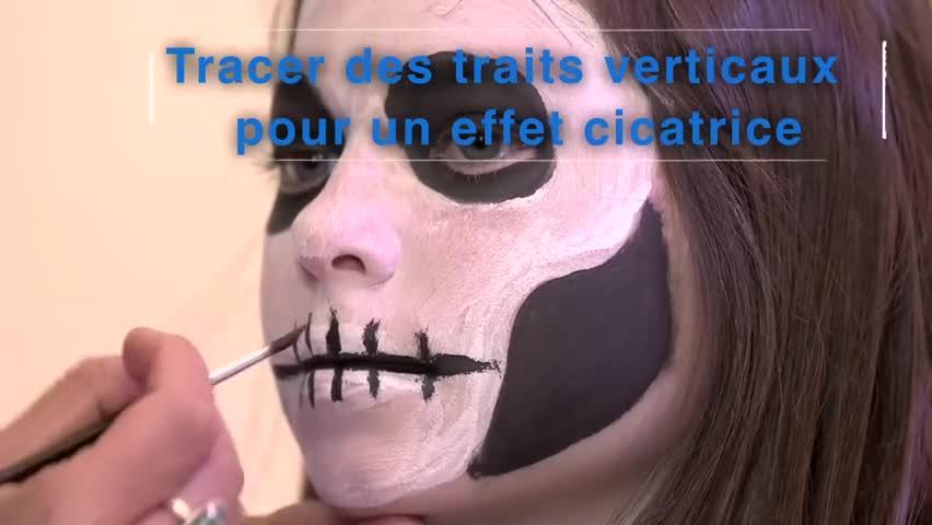 Faire Un Maquillage Tete De Squelette Pour Enfant Minutefacile Com