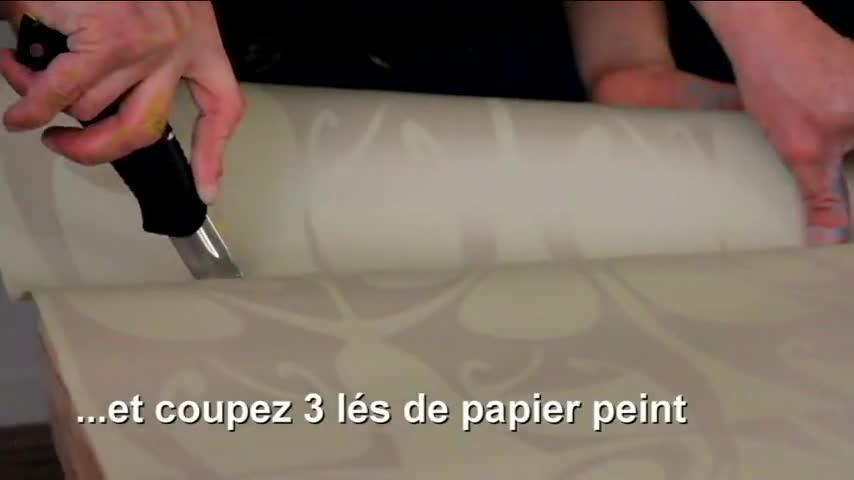 Video Realiser Une Tete De Lit Pour Adulte Avec Du Papier Peint
