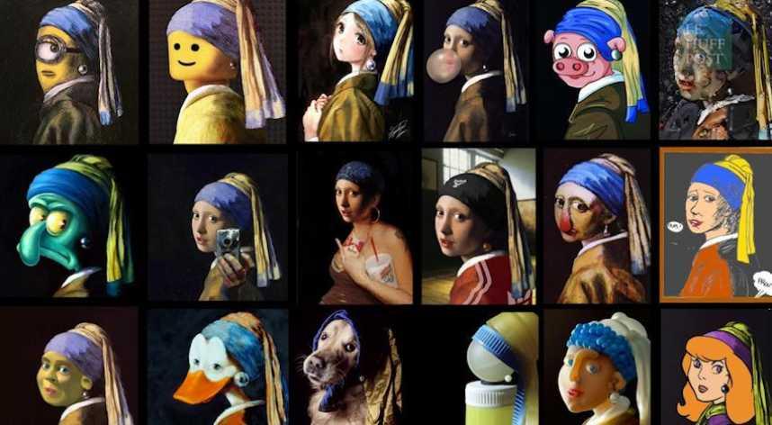 Jeff Koons recouvre les sacs Louis Vuitton d œuvres d art   Le Huffington  Post b12d124ffed