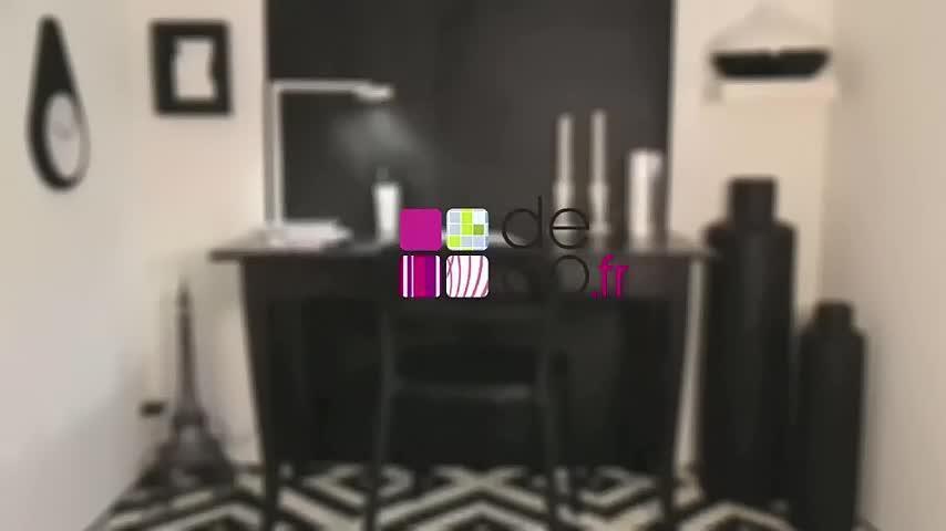 Leçon de style : un bureau noir et blanc video sur deco.fr m6